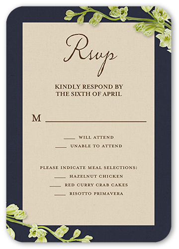 budding romance rsvp cards  wedding invitations  shutterfly, invitation samples