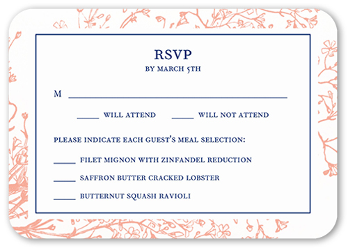 Graceful Elegance Wedding Response Card