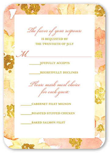 Blooming Forever Wedding Response Card