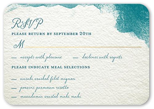 Perfect Watercolor Wedding Response Card, Square