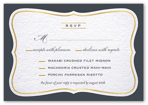 Brilliant Bracket Border Wedding Response Card