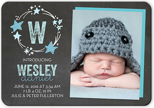 Crafty Collage Boy Birth Announcement