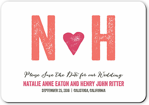 Heartfelt Initials Save The Date