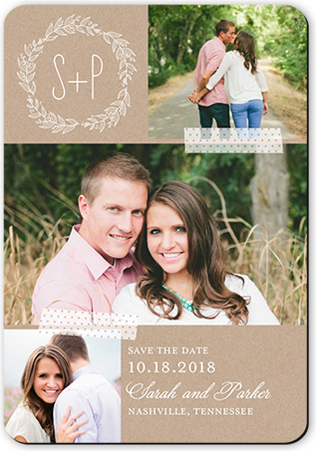 Romantic Wreath Save The Date