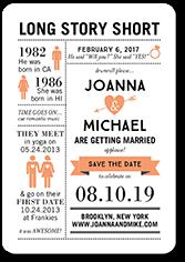 long story short save the date stationerymagnet