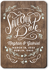 No Photo Save The Date Cards Shutterfly