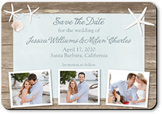 Beach Tropical Save The Date Cards