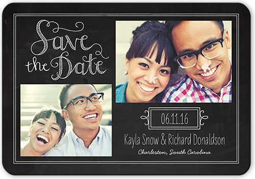 Chalkboard Love Save The Date