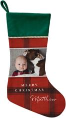 classic holiday plaid christmas stocking