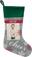 snowflake cheer christmas stocking