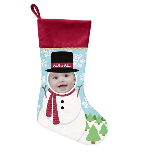 I'm A Snowman Christmas Stocking, Cranberry, Multicolor