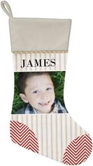 photo stripes and chevrons christmas stocking
