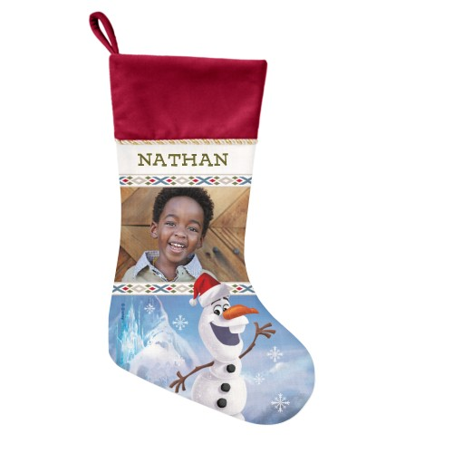 Disney Frozen Olaf Christmas Stocking, Cranberry, Blue