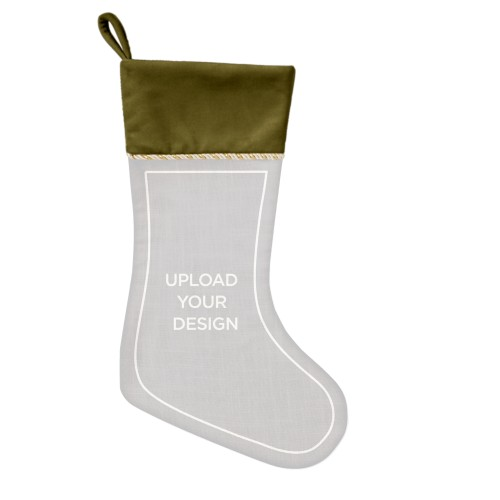 Upload Your Own Design Christmas Stocking, Moss Green, Multicolor