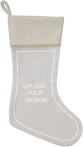Upload Your Own Design Christmas Stocking, Natural, Multicolor