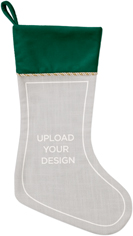 upload your own design christmas stocking