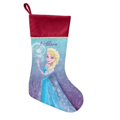 Disney Frozen Elsa Snowflake Christmas Stocking, Cranberry, Purple