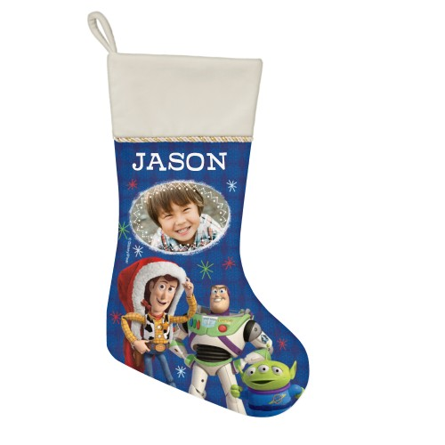 Disney Toy Story Winter Christmas Stocking, Natural, Blue