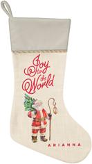 vintage santa christmas stocking
