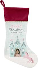 princess castle christmas christmas stocking