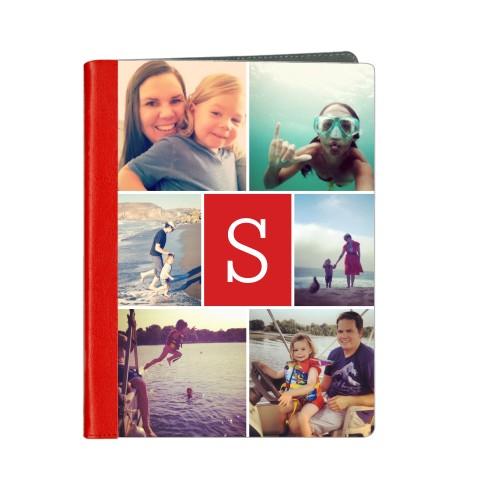 Gallery Monogram ipad Case, Red, iPad 1,2,3,4, Multicolor