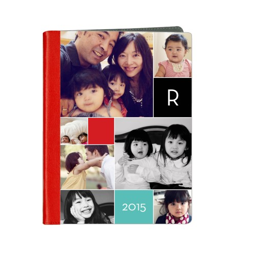 Monogram Memories ipad Case, Red, iPad 1,2,3,4, Multicolor