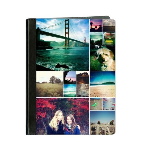 Collage Squares ipad Case, Black, iPad 1,2,3,4, White
