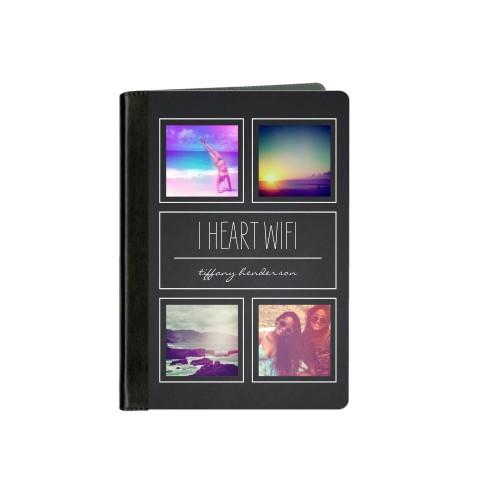 Chalkboard Pictogram ipad Case, Black, iPad mini, mini 2, Grey