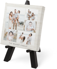 gallery of five tabletop canvas print