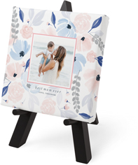 painted florals tabletop canvas print