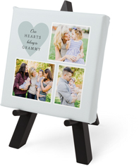 our hearts tabletop canvas print