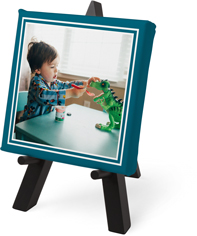 double border frame tabletop canvas print