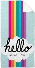 emoji rainbow towel
