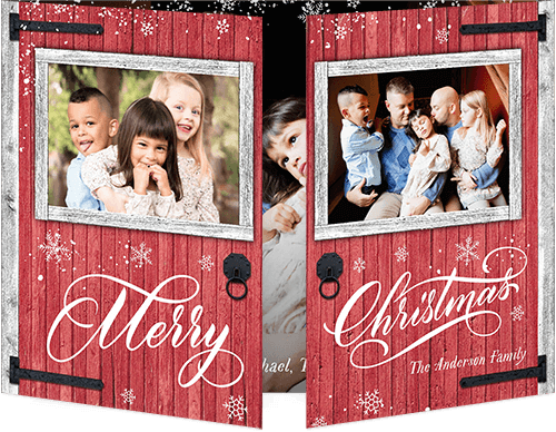 Rustic Greeting Holiday Card, Square