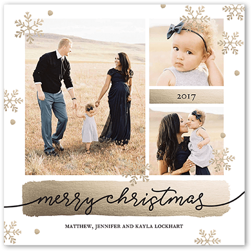 Shiny Greetings Christmas Card, Square