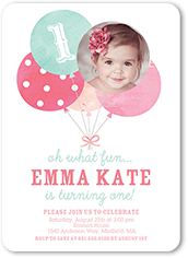 girl birthday invitations tiny prints