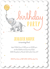 Whimsical Confetti Birthday Invitation