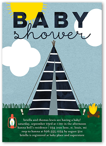 Camper Baby Baby Shower Invitation, Square