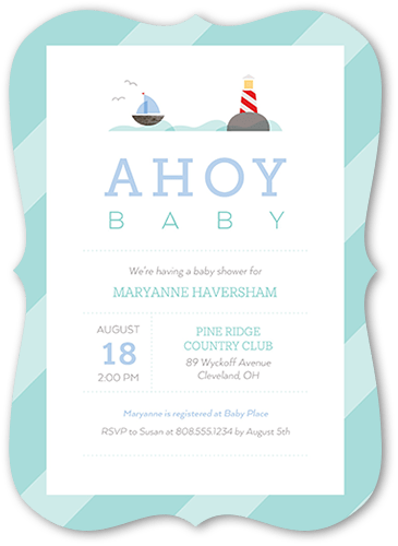 Maritime Baby Boy Baby Shower Invitation, Square