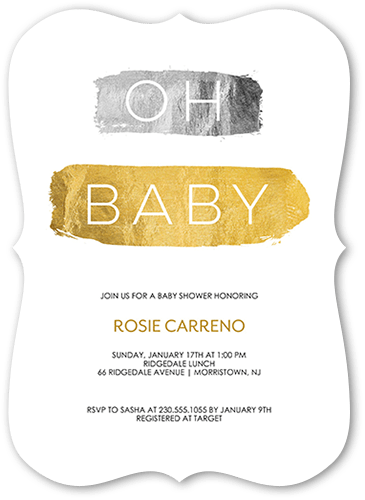 Shimmering Shower Baby Shower Invitation, Square