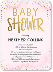 Shower Stars Baby Invitation