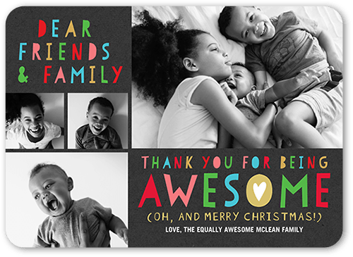 Dear Friends Holiday Card, Rounded Corners
