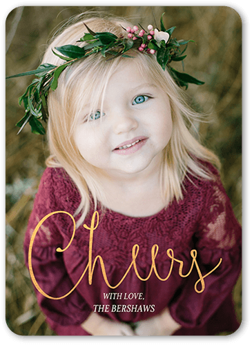Gleaming With Cheer Holiday Card