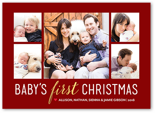 Christmas Beginnings Holiday Card, Square Corners