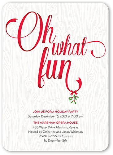 Dapper Fun Holiday Invitation, Rounded Corners