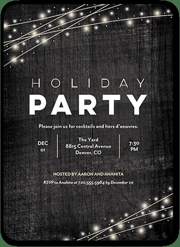 Glowing Splendor Holiday Invitation, Square