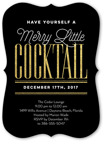 Merry little drink 5x7 unique holiday party invitations tiny prints front solutioingenieria Image collections