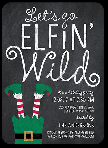 Elfin Wild Holiday Invitation, Square