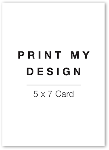 Print My Design Christmas Card