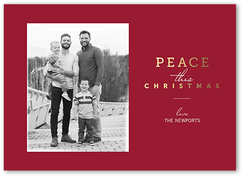 Spreading Peace Christmas Card, Square Corners
